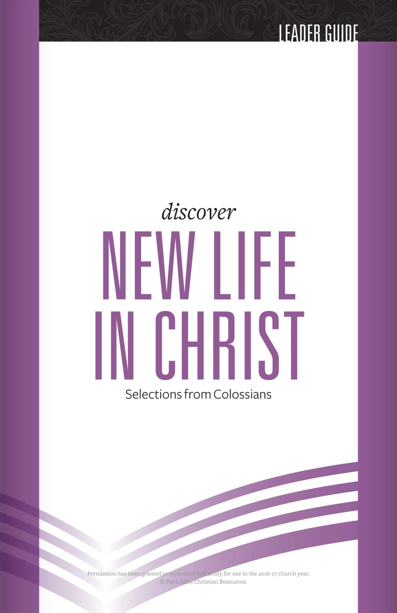 Discover New Life in Christ Leader Guide cover image