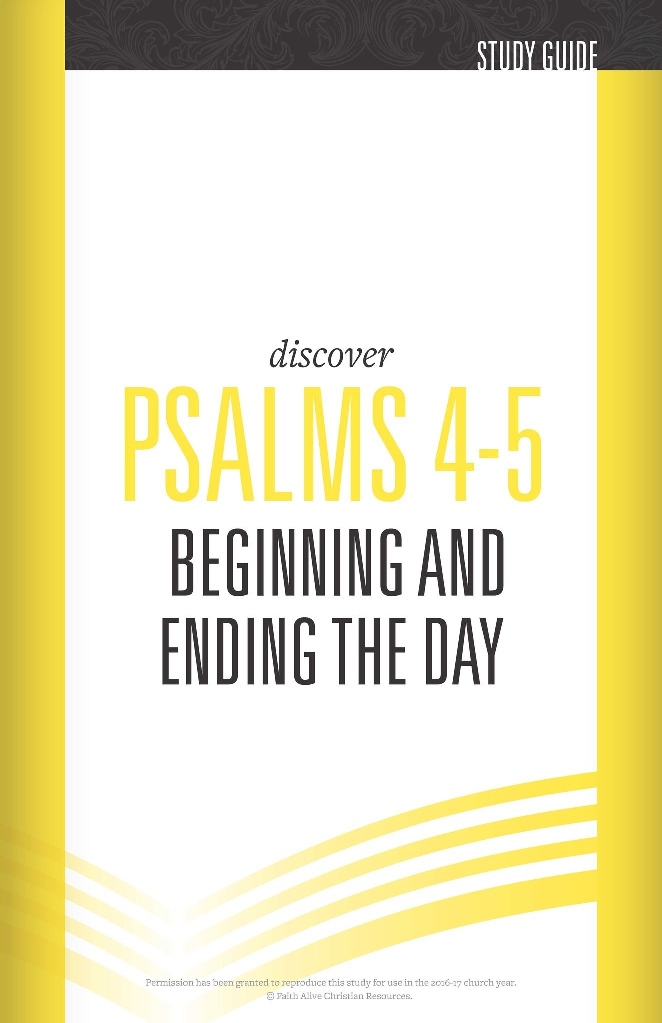 Psalms 4 & 5 Cover Image