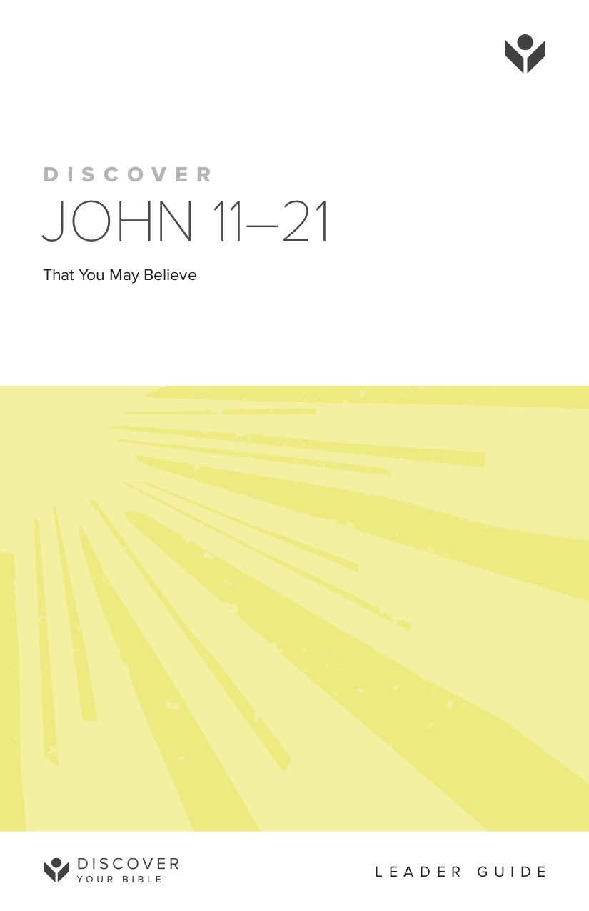 Discover John 11-21 Leader Guide cover image